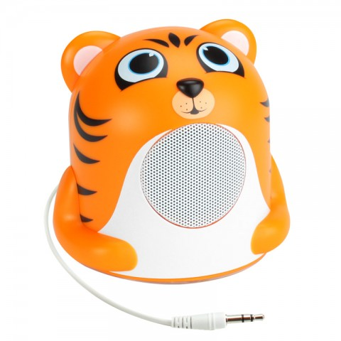 Character Mood Light Speaker w/ Glowing LED Base & 3.5mm Jack - Tiger