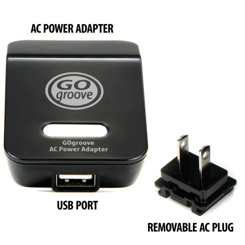 Universal AC to USB Power Adapter with Removable Prongs