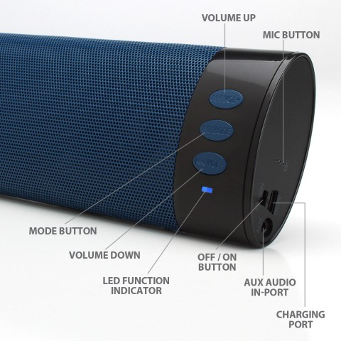 BlueSYNC BR2 Portable Wireless Bluetooth Speaker w/ Handsfree Microphone